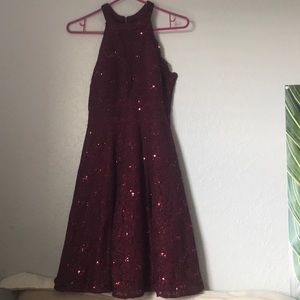 Maroon sequin formal/homecoming dress